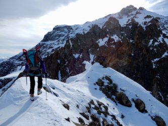 Pratique de la raquette Alpine